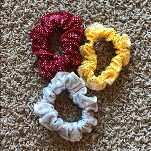3 Metallic Scrunchies (never used)